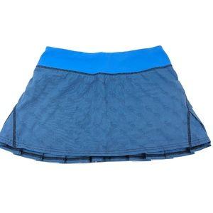 Lululemon Pace Setter Skirt Blue Size 4